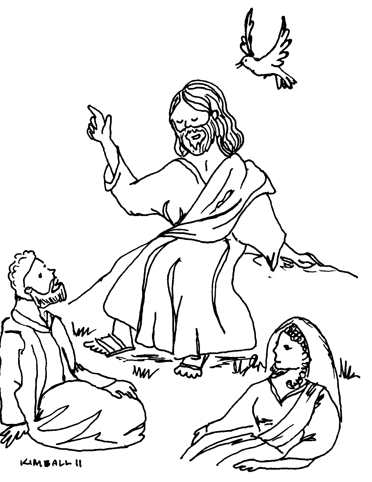 the beatitudes coloring pages - photo#33