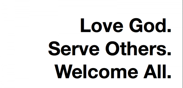 Love God. Serve Others. Welcome All.